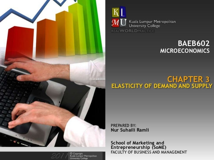 BAEB602 Chapter 3: Elasticity of Demand and Supply