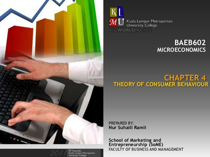 BAEB602                      MICROECONOMICS                          CHAPTER 4  THEORY OF CONSUMER BEHAVIOURPREPARED BY:Nu...