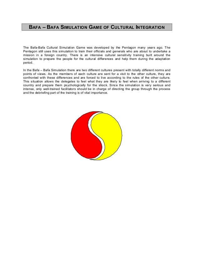 BBAFAAFA – B– BAFAAFA SSIMULATIONIMULATION GGAMEAME OFOF CCULTURALULTURAL IINTEGRATIONNTEGRATIONThe Bafa-Bafa Cultural Sim...