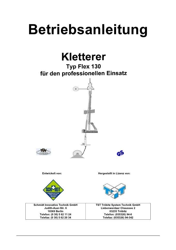 Betriebsanleitung Flex130