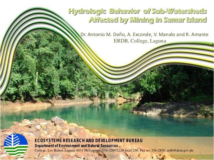 Dr. Antonio M. Daño, A. Exconde, V. Manalo and R. Amante                                             ERDB, College, Laguna...