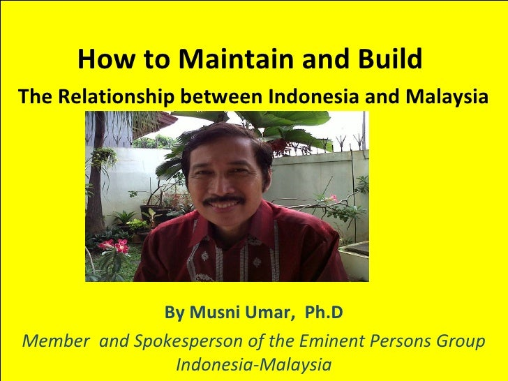 Relationship Indonesia and Malaysia