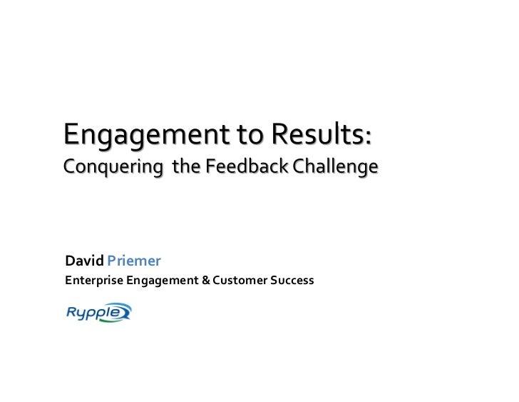 David  Priemer   Enterprise  Engagement  &  Customer  Success