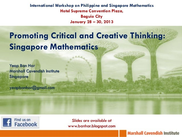 International Workshop on Philippine and Singapore Mathematics                           Hotel Supreme Convention Plaza,  ...