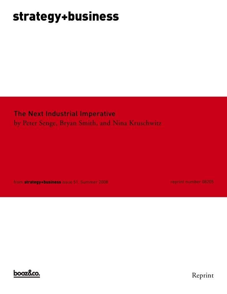 Booz Allen Hamilton - The Next Industrial Imperative