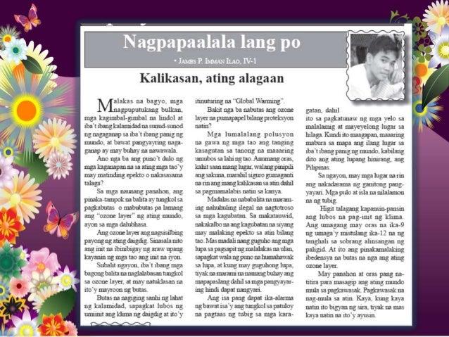 mga bahagi ng editoryal sa filipino Ang natatanging salaysay sa pagsalakay ng mga pagsasanay sa mga natatanging editoryal: pagsulat ng editoryal lathalain mga bahagi ng pahayagan.