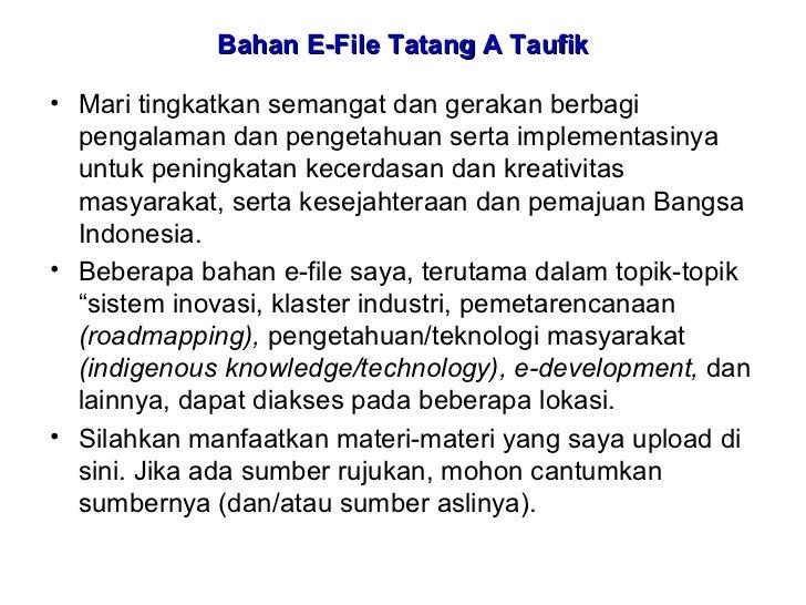 Bahan E-File Tatang A Taufik  • Mari tingkatkan semangat dan gerakan berbagi   pengalaman dan pengetahuan serta implementa...