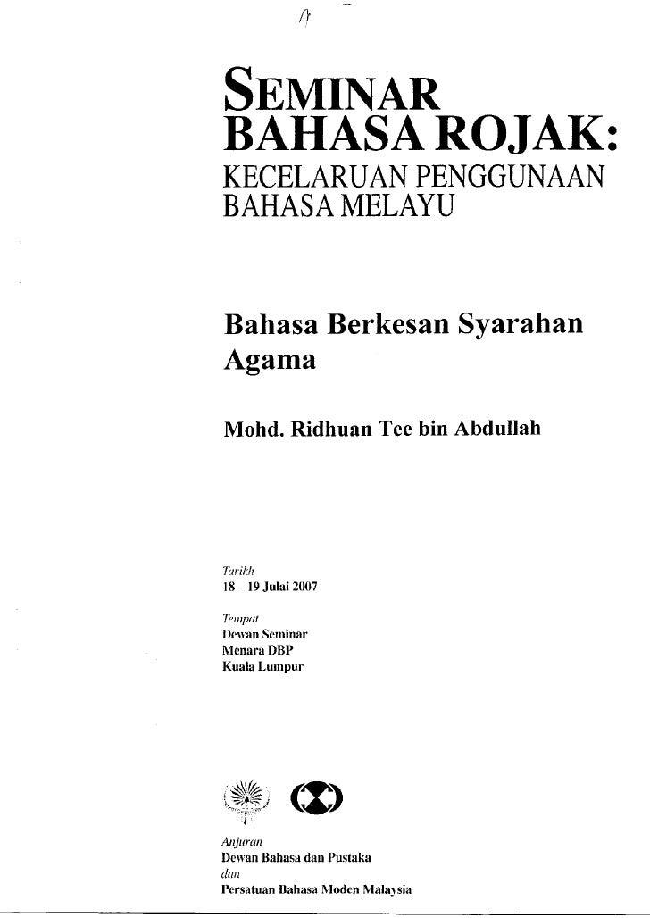 Bahasa Berkesan Syarahan Agama   Ustaz Ridhuan Tee Abdullah 001