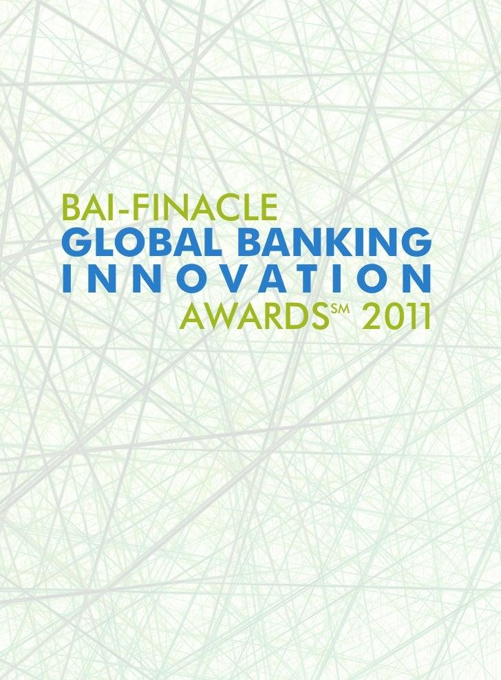 BAI-Finacle Global Banking Innovation Awards 2011