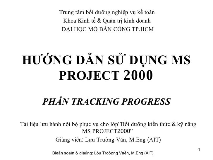 Bai Tap Ms Project Tracking