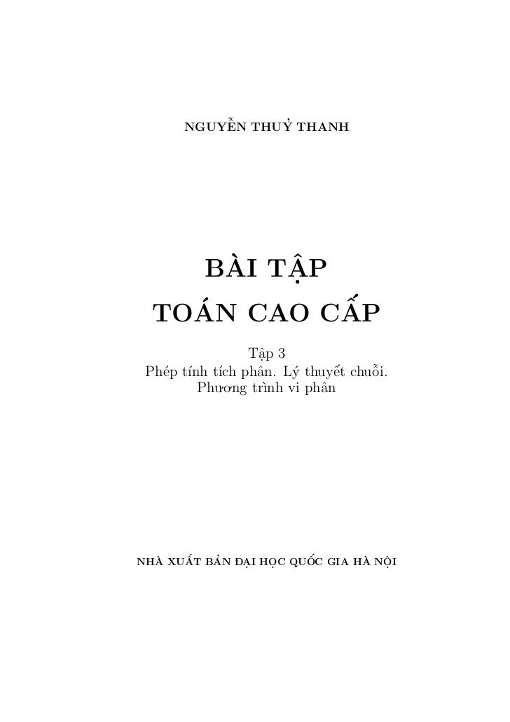 ˜          ˆ     '      NGUYEN THUY THANH      `   ˆ     BAI TAP          .    ´        ´             ˆ  TOAN CAO CAP     ...