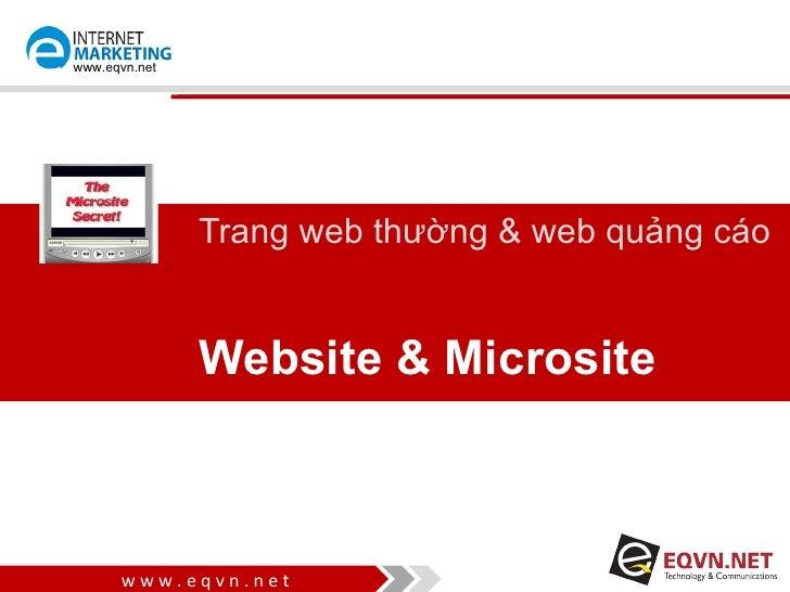 www.eqvn.net               Trang web thường & web quảng cáo               Website & Microsite      www.eqvn.net