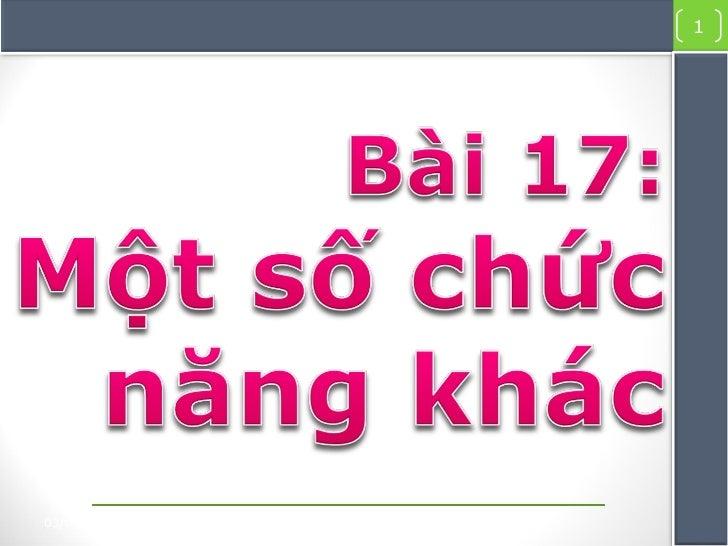 Bai giang 17-Tin học 10