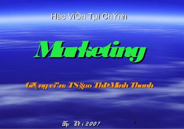 Bai giang marketing