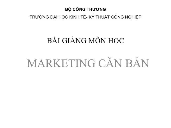 Bai giang marketing can ban dh