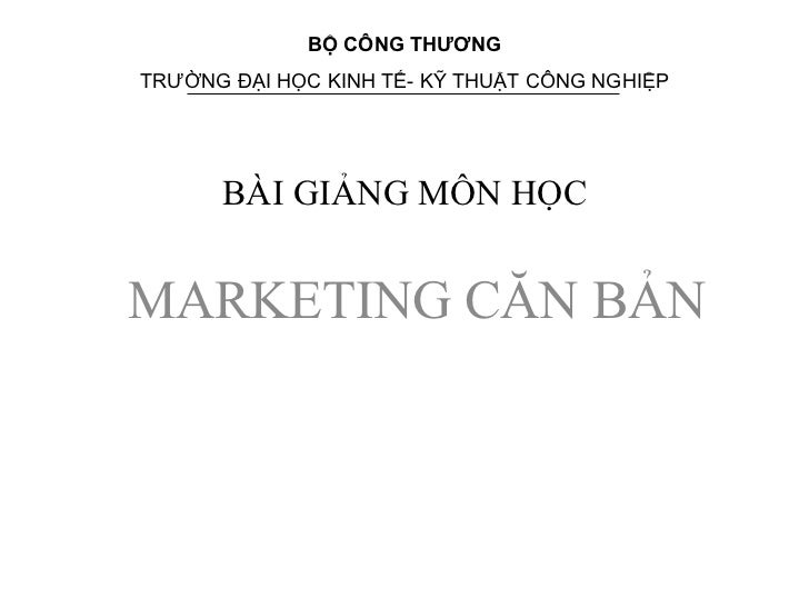 Bai giang marketing can ban dh