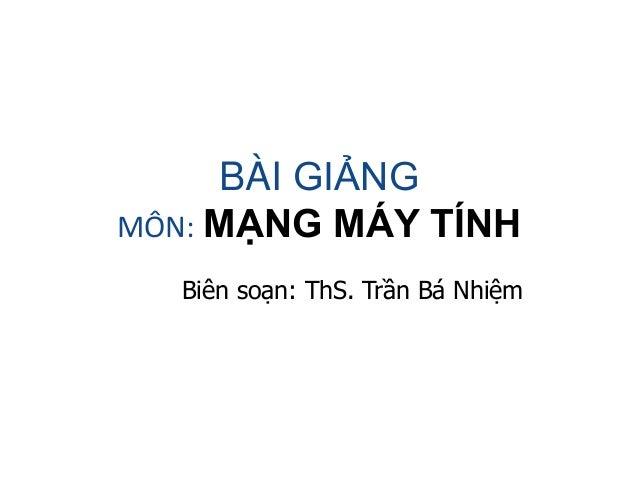 Bai giang mon mang may tinh