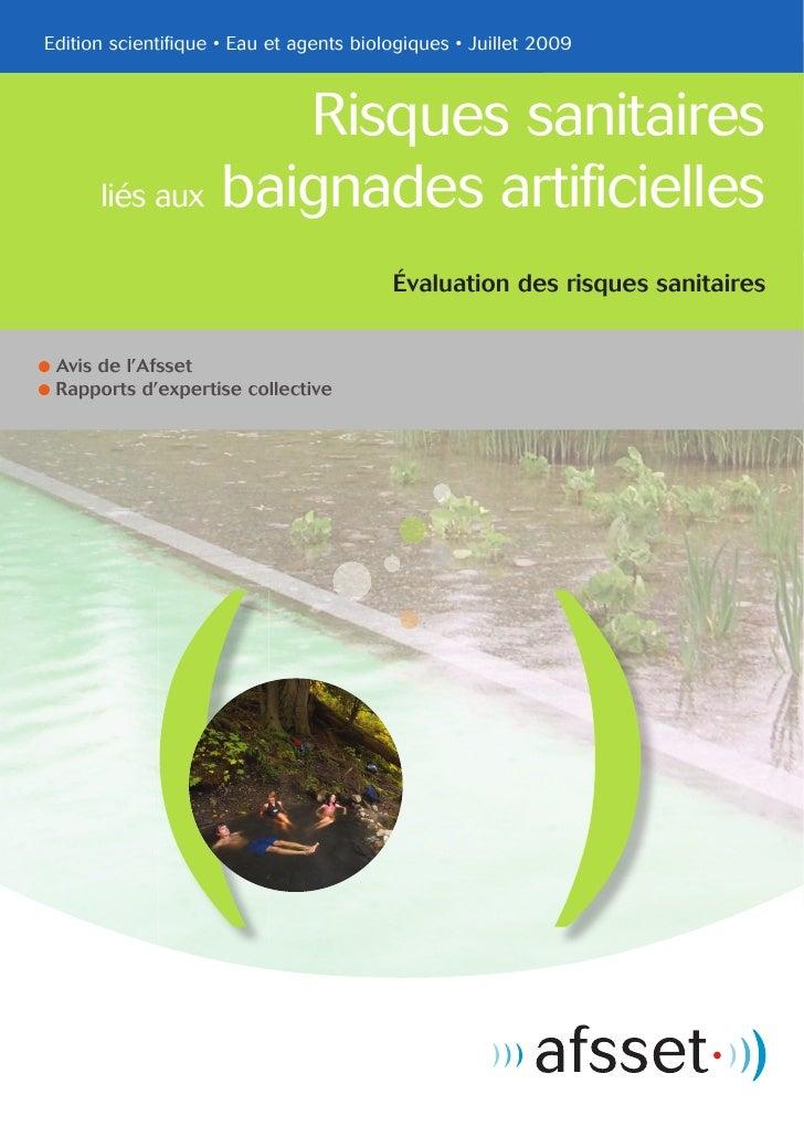 Edition scientifique • Eau et agents biologiques • Juillet 2009                       Risques sanitaires        liés aux b...