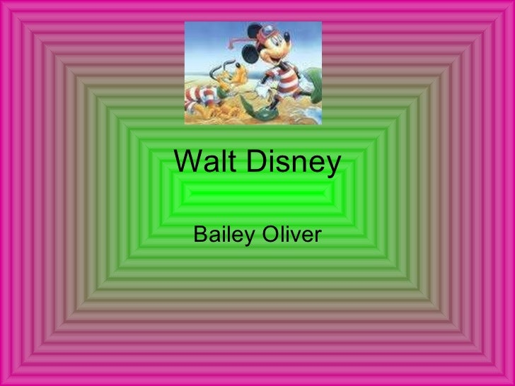 Walt Disney Bailey Oliver