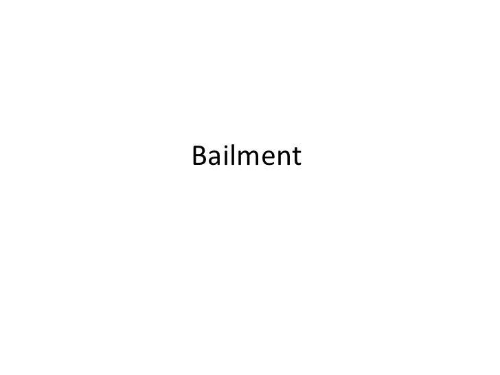 Bailment