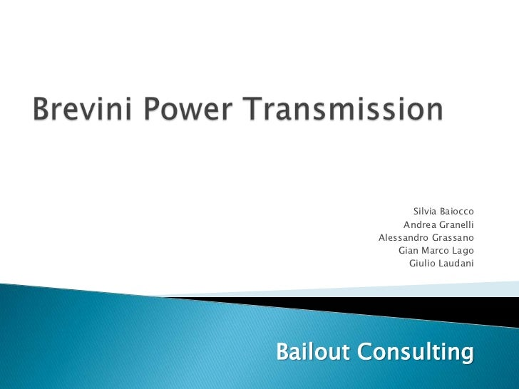 Bailout.consulting.brevini