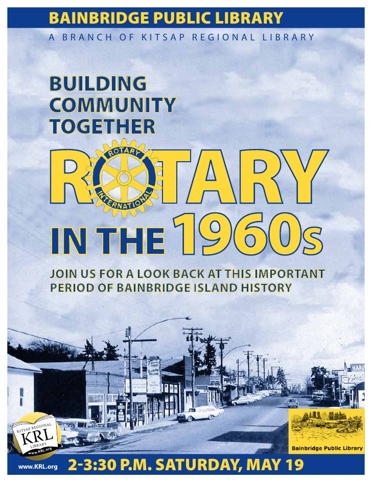 Bainbridge Rotary and Our History on the Island - 1960's