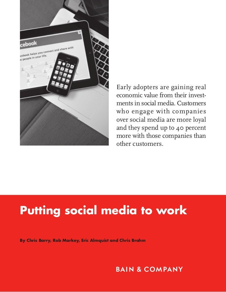 Bain brief putting social media to work