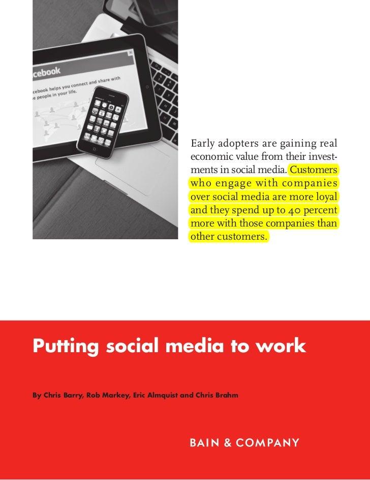 Bain Brief:  Putting social media to work
