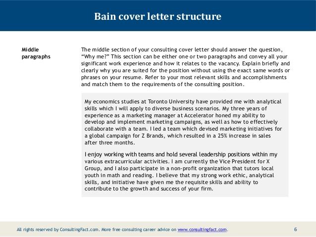Consulting cover letter sample bain - Buy Original Essays online