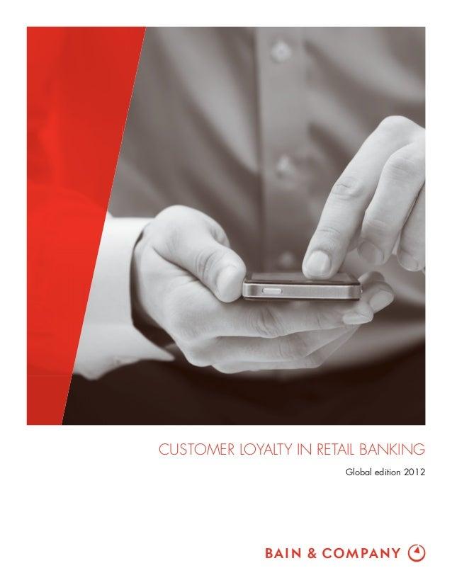 Bain report customer loyalty in retail banking