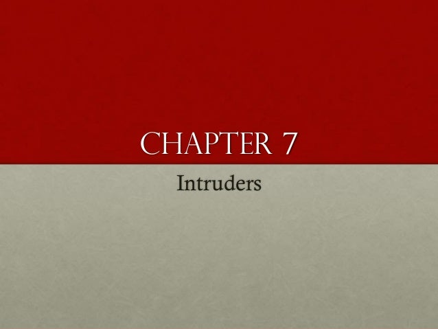 Chapter 7 Intruders