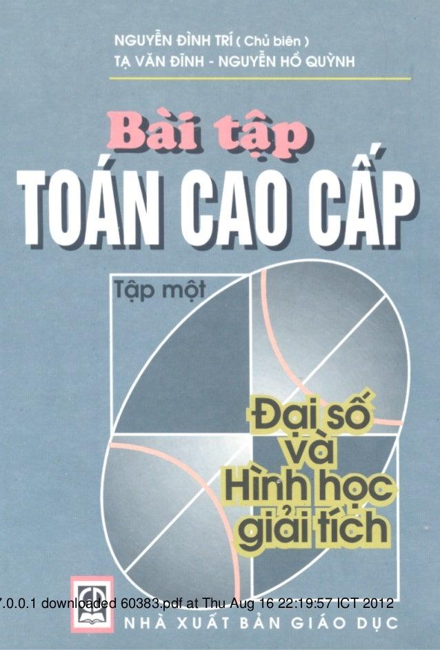Bài Tập Toán Cao Cấp - Nguyễn Đình Trí