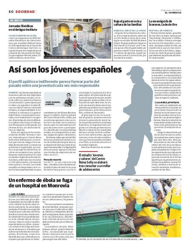 50 Miércoles 03.09.14  SOCIEDAD EL COMERCIO  cias respecto a la percepción de la  identidad propia en comparación  conestu...