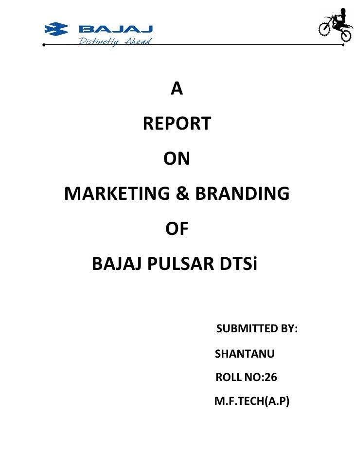 product Branding Of Bajaj Pulsar Dt Si By-Amit Singh
