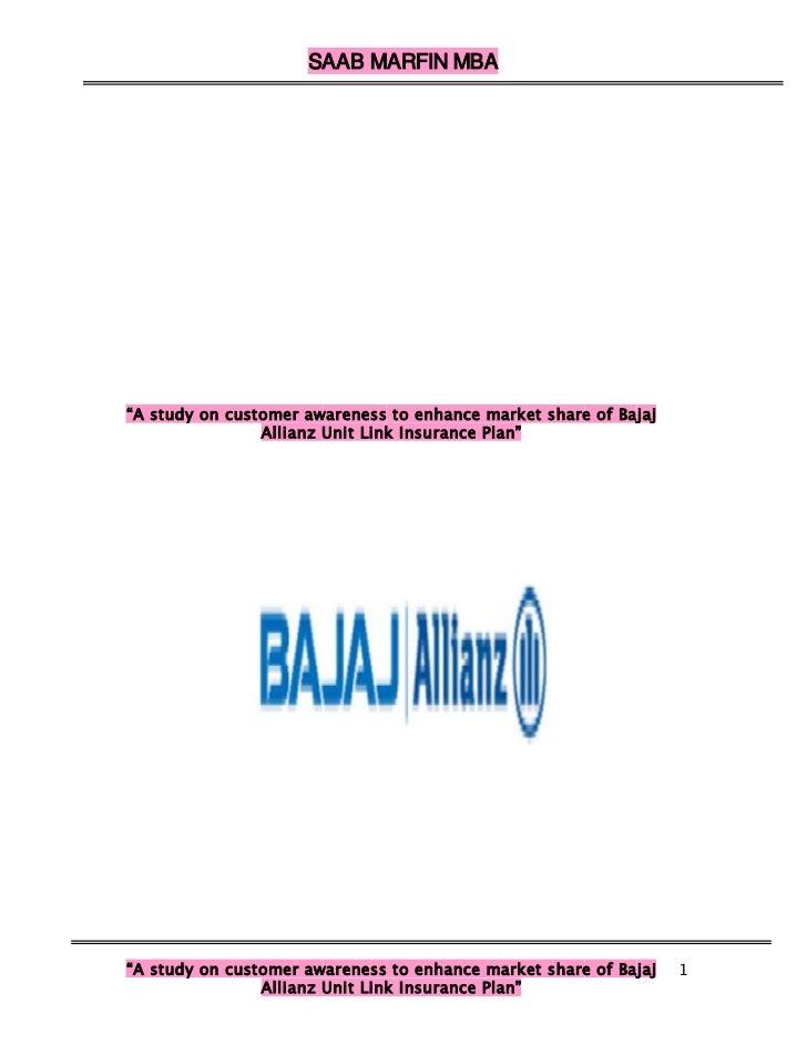A Study Awarness Of Custmor Bajaj Allianz Life Insurance