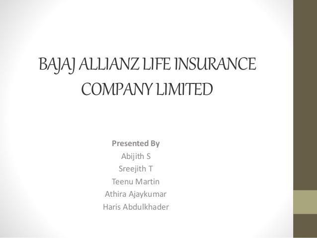 bajaj allianz life insurance mba project Bajaj allianz life insurance plans offer you savings, investment & income protection to secure your life goals get affordable premiums & high coverage on life.