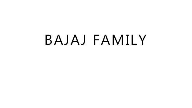 Bajaj Family Business Presentation