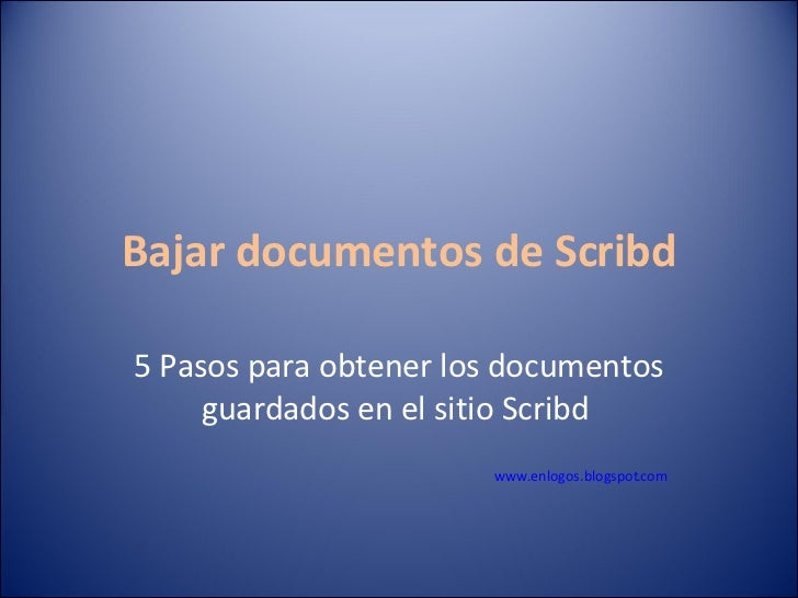 Bajar documentos de Scribd2