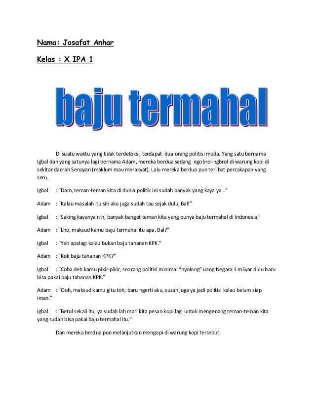 contoh anekdot tugas bahasa indonesia