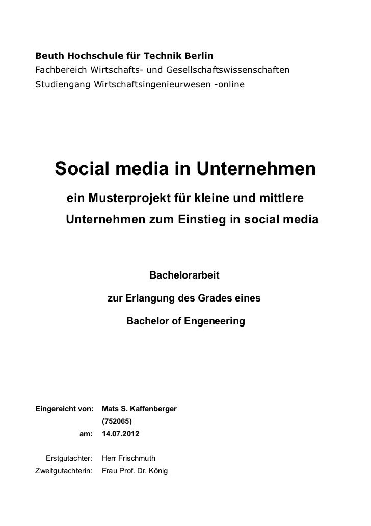 Social media Integration für KMU (Bachelorthesis)