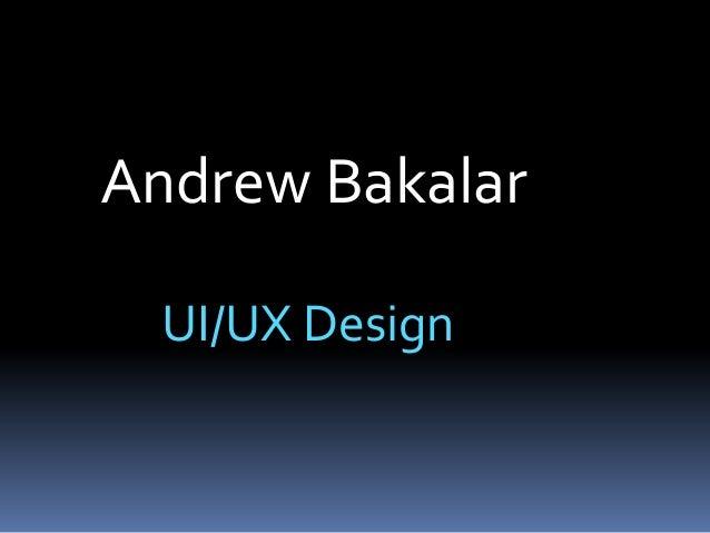 Bakalar UI Design Portfolio