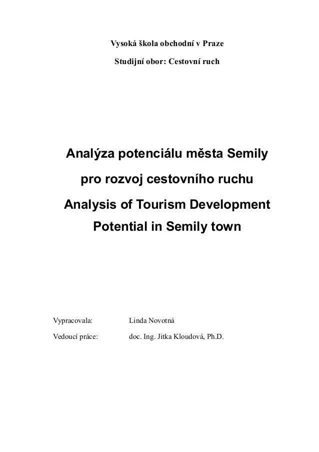 Analýza potenciálu města Semily pro rozvoj cestovního ruchu
