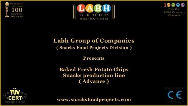 Baked fresh potato chips snacks production line ( advance )