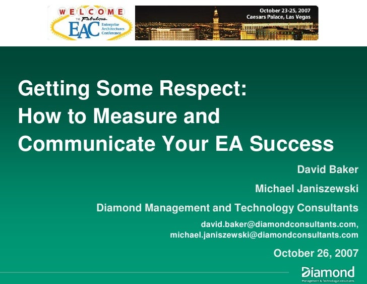 Getting Some Respect - How to Measure and Communicate Your EA Success