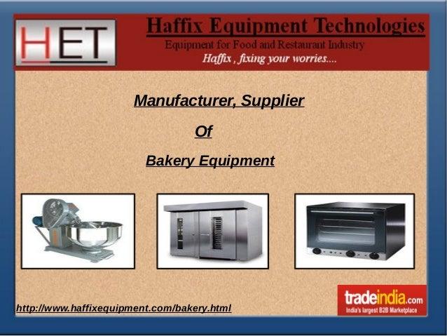 Bakery Equipment Manufacturer,Supplier,Mumbai
