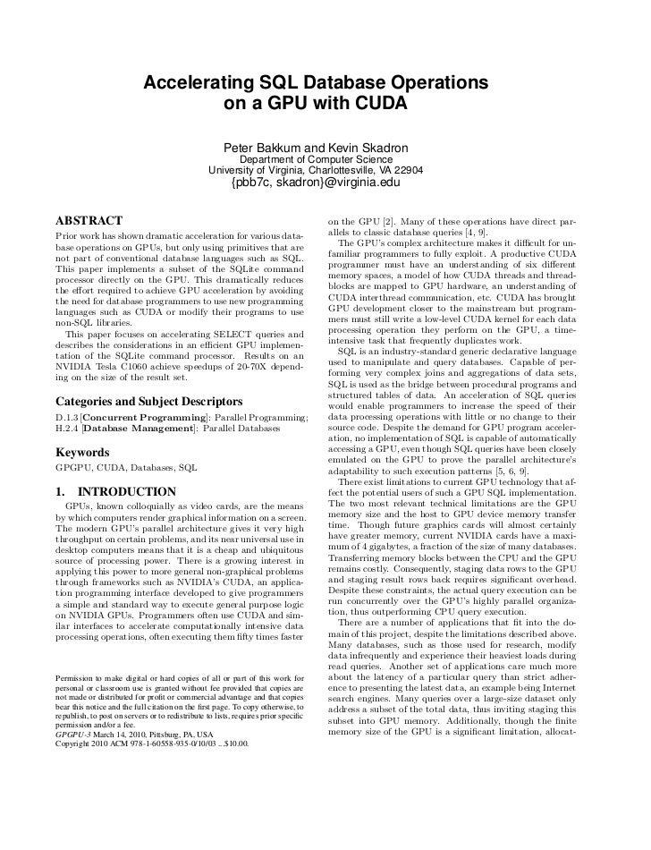 SQL CUDA