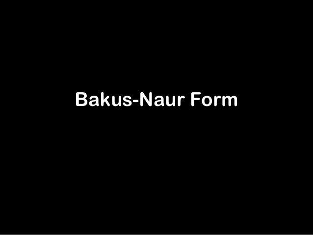 Bakus naur form