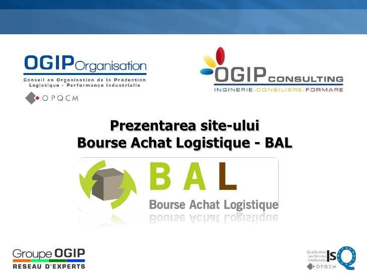 Prezentarea site-ului Bourse Achat Logistique - BAL