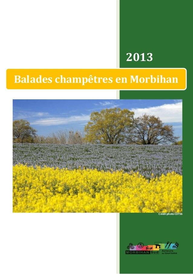 2013 Balades champêtres en Morbihan Crédit photo CDT56