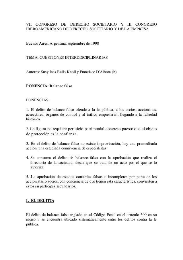 VII CONGRESO DE DERECHO SOCIETARIO Y III CONGRESOIBEROAMERICANO DE DERECHO SOCIETARIO Y DE LA EMPRESABuenos Aires, Argenti...